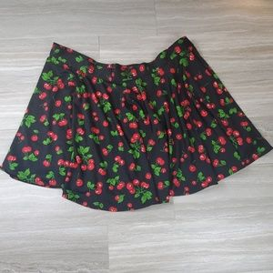 Pinup Couture Cherries Circle Skirt Size 3X